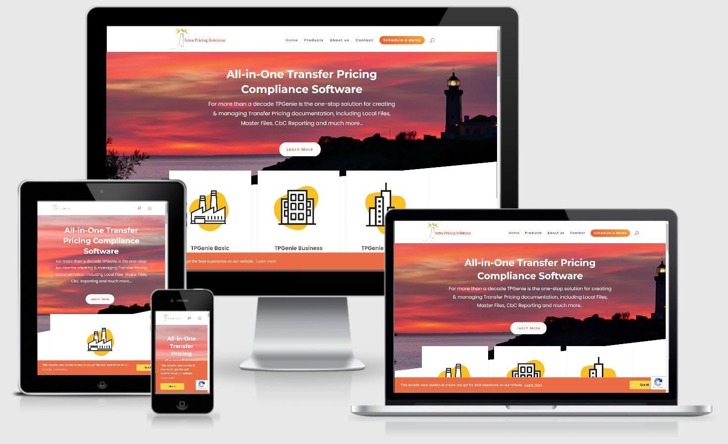 IntraPricing responsive website voorbeelden Your Salespoint Online Marketing