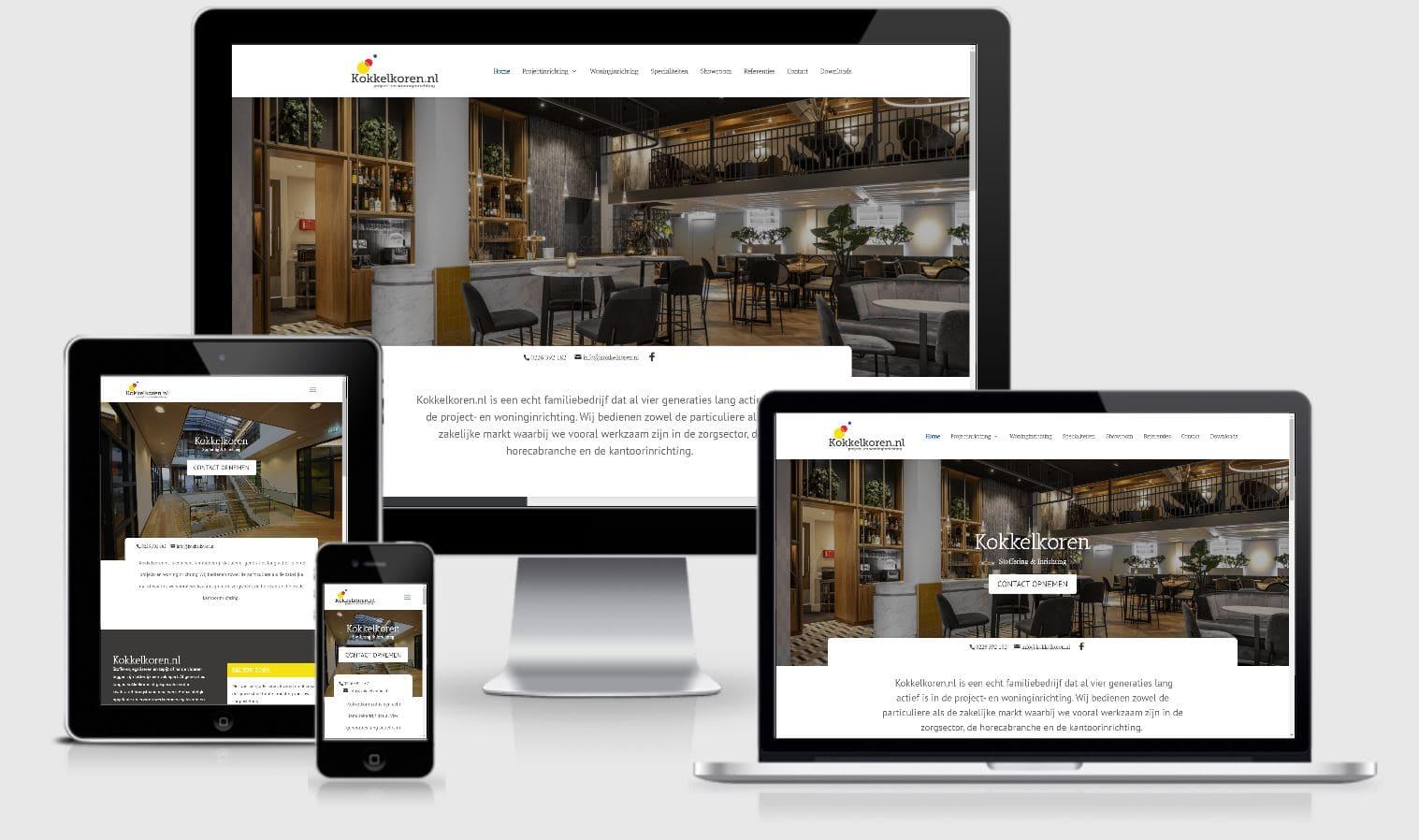 Kokkelkoren Responsive website voorbeelden Your Salespoint Online Marketing