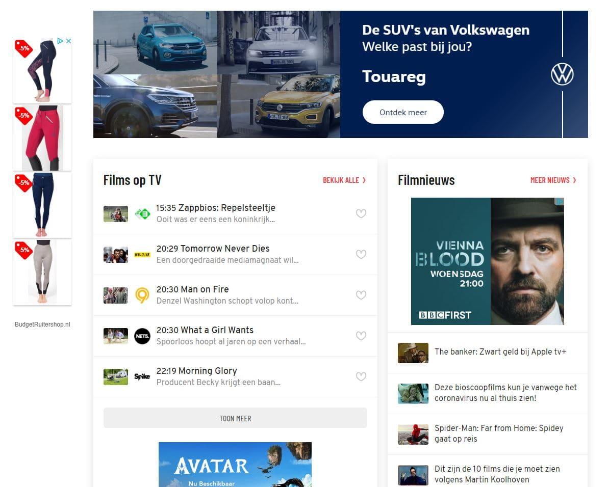 Google Display Advertising voorbeeld website Your Salespoint Online Marketing